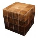 cowhide cube cover  beige - medium brown - dark brown - pony skin