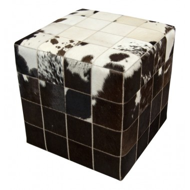 cowhide cube cover* white black brown  - pony skin