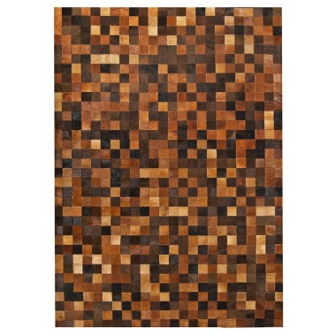 patchwork cowhide rug k-1584 mosaik multicolour brown