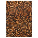 patchwork cowhide rug k-1584 mosaik multicolor brown
