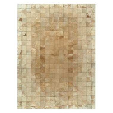 δερματινο χαλι k-00211 mosaik beige-white