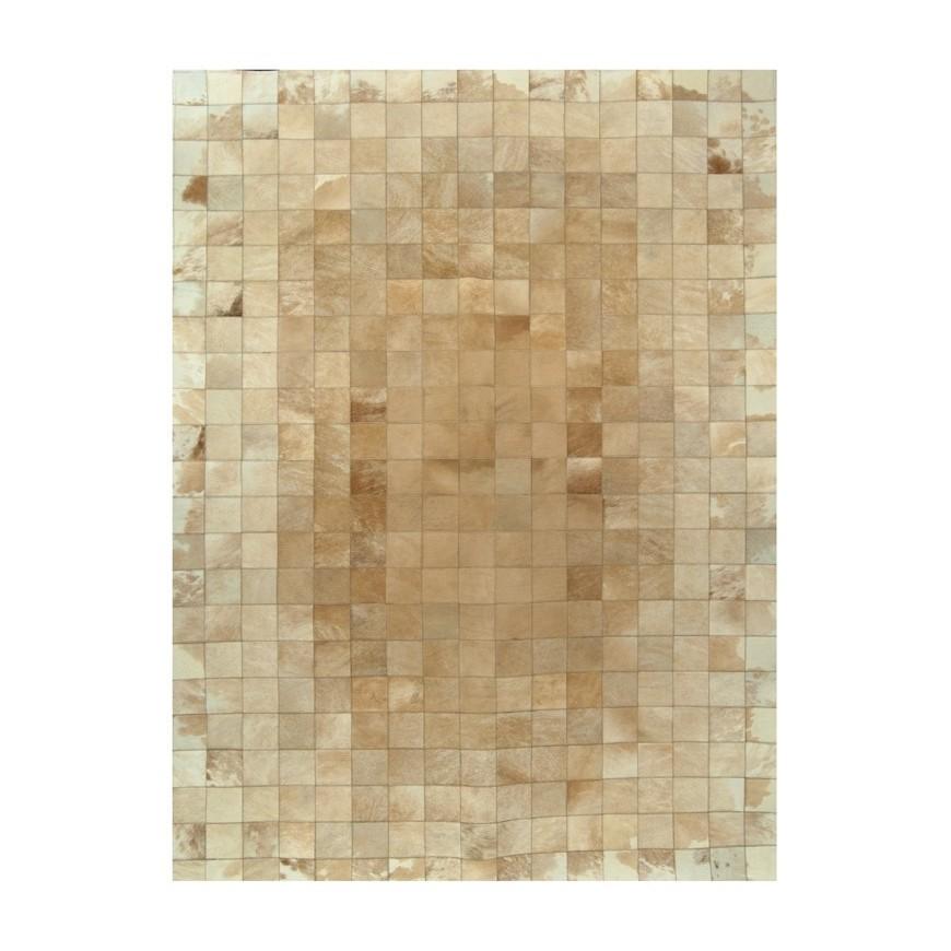 δερματινο χαλι k-00211 beige white 10x10