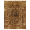 patchwork cowhide rug k-67821 medium brown
