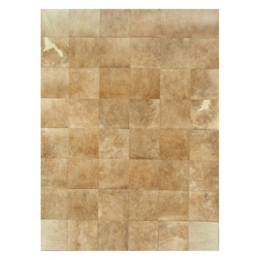 patchwork cowhide rug k-68051 light beige