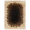Δερματινο χαλι k-1668 mosaik brown-beige