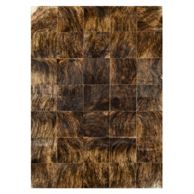 patchwork cowhide rug k-6775-1 medium brown