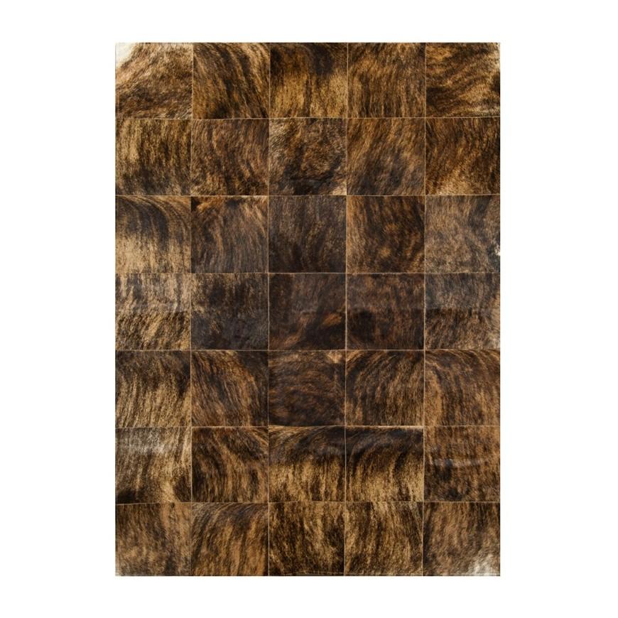 leather carpet rug k- 6775-1 exotic medium brown Cozy Bear