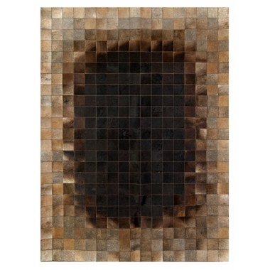 Patchwork cowhide rug k-1653 mosaik redish