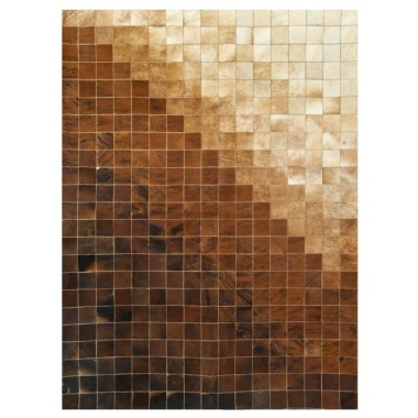 Δερματινο χαλι k-663 mosaik brown-beige
