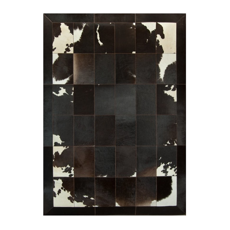 leather carpet rug  k-0045-1 redish 20x30 fr