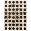 patchwork cowhide rug k-912 light grey beige circle croco testa di moro