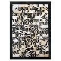 Δερματινο χαλι k-1672 mosaik zebrone black-white