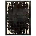 patchwork cowhide rug k-1698 black-brown-white