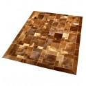 Δερματινο χαλι ανοιχτό καφέ baio cavallino puzzle