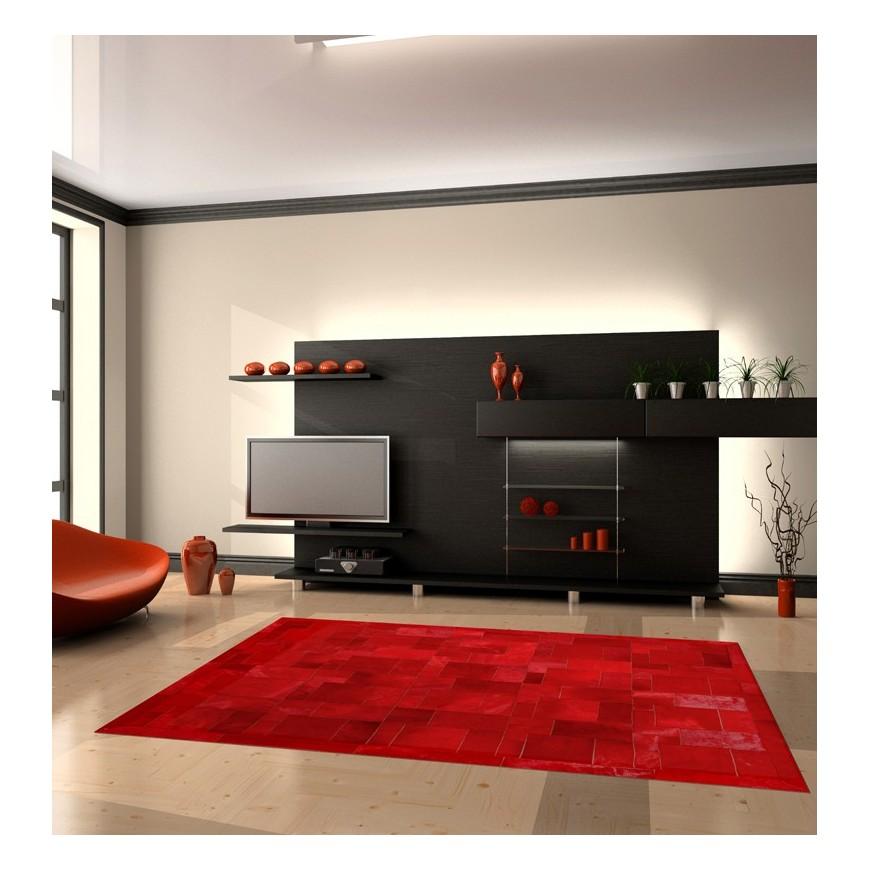 Δερματινο χαλι rosso puzzle frame