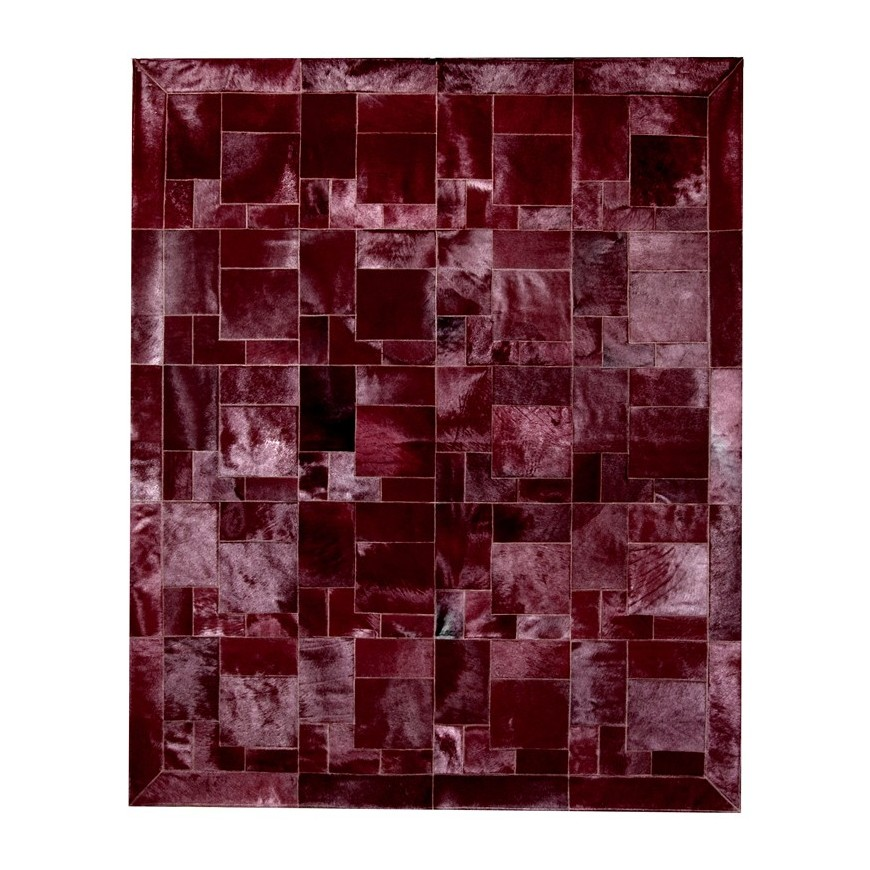 leather carpet area rug bordeaux puzzle frame