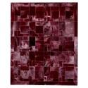 Δερματινο χαλι bordo puzzle