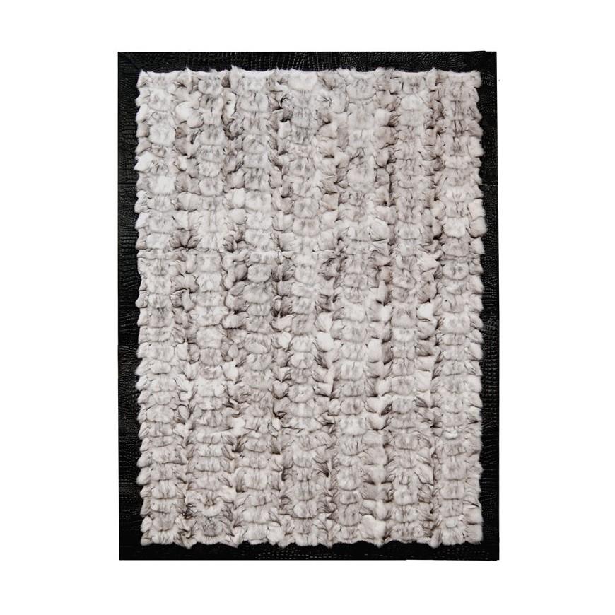 Fur carpet area rug fox t moro 40x40 frame jurasico t moro