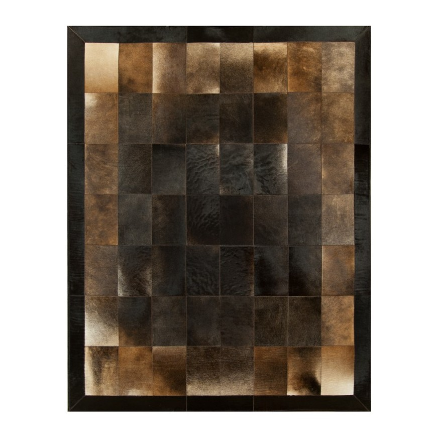 leather rug k-1703 redish tobaco leaves 20x30 fr
