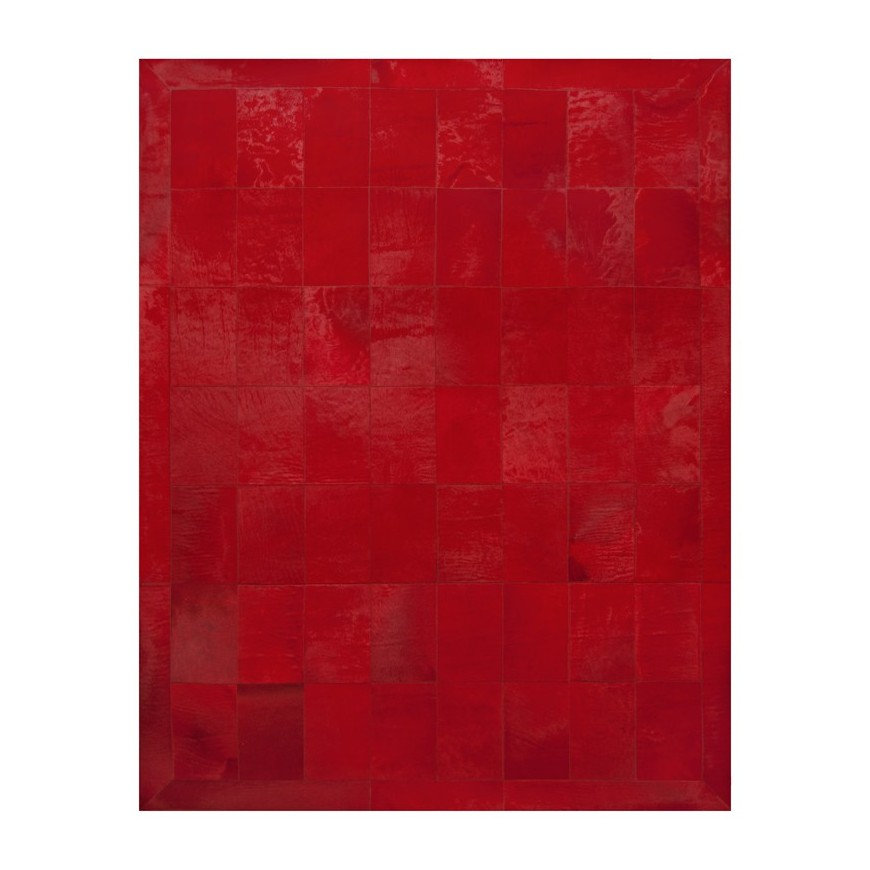 Modern Cowhide Rug Horsy Red With Frame Fur Home Kastoria
