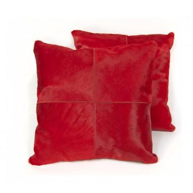 δερματινο μαξιλαρι rosso