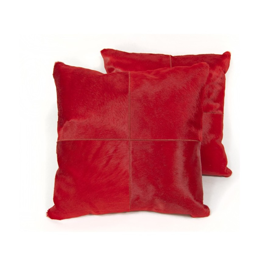 pair cushion covers* red rosso