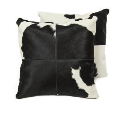 δερματινο μαξιλαρι black white