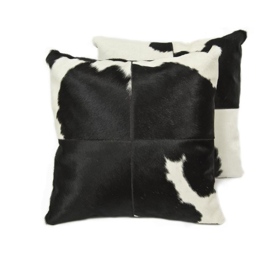 pair cushion covers* black white