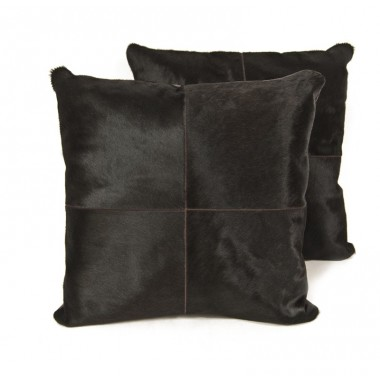 cowhide cushion dark brown - testa di moro