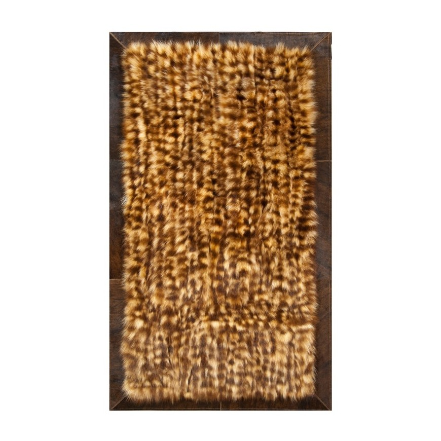 Fur carpet area rug k-1769 racoon frame ex dark