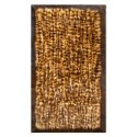 Fur rug k-1769 racoon frame dark brown
