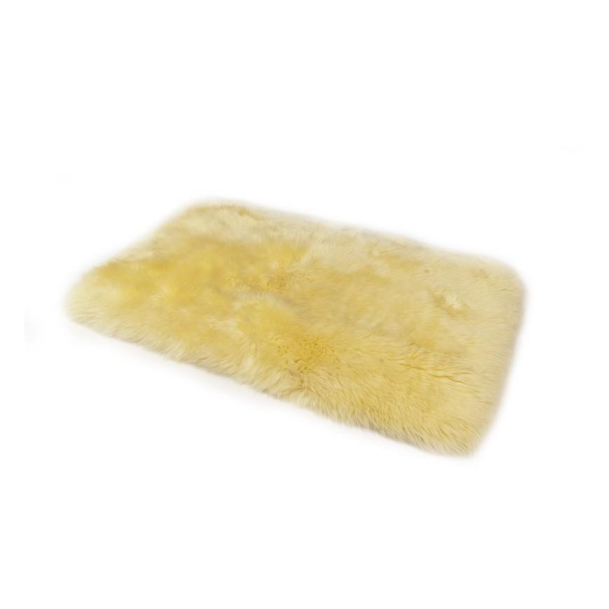 Sheepskin floor mat yellow