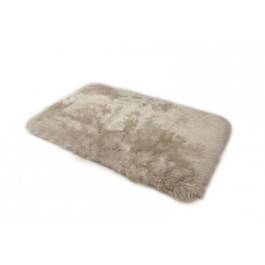 Sheepskin rug Lilac up side