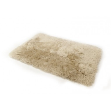 sheepskin rug old red