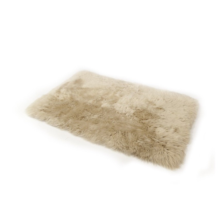 sheepskin rug light brown
