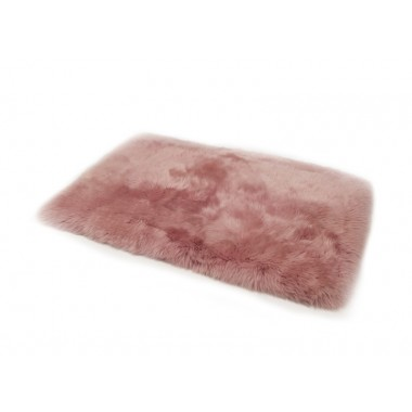 sheepskin rug pink