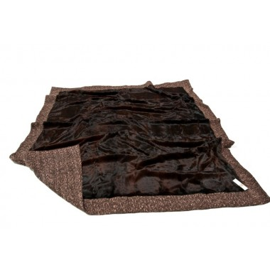 fur blanket lapin bordo bronze 2