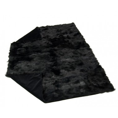 fur plaid throw blanket bedspread toscana black