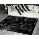 cowhide rug black (nero)  cavallino puzzle