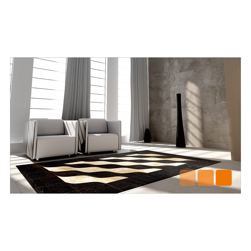 Leather carpet rug k-1493 30x30