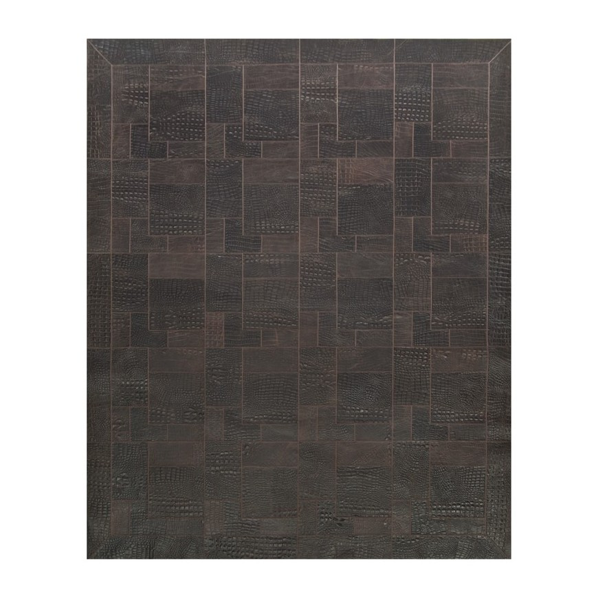 δερματινο χαλι k- 1677 croco t.moro puzzle frame