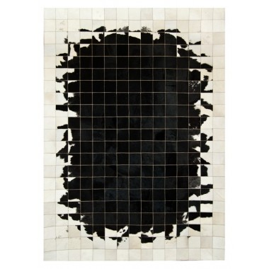 cowhide rug k-1784 black white 10x10 mirrored mosaic