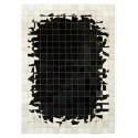 patchwork cowhide rug k-1784 mosaik black-white