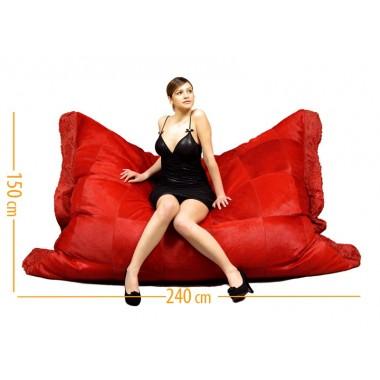 δερματινος καναπες πουφ canape rosso
