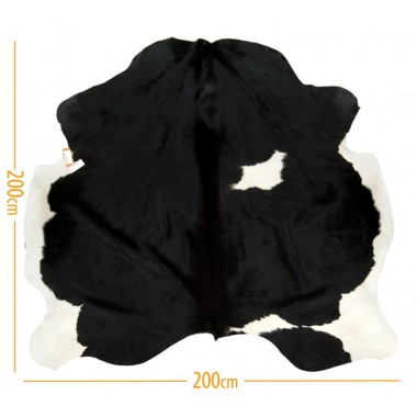 χαλι δερμα d-15 black white