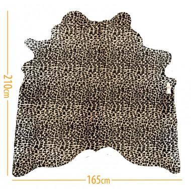 χαλι δερμα d-17 leopard black on light beige