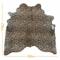 cowhide  leopard Print black on light beige d-17