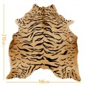cowhide d-19 tiger black on beige