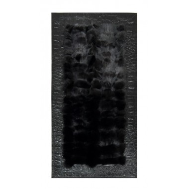 Fur rug fox black frame jurasico nero