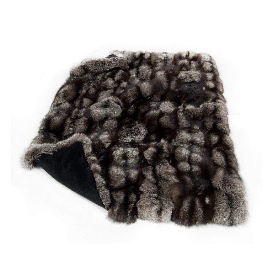 fur throw silver fox